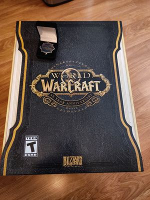 World of Warcraft 15 Anniversary PC Collector's Edition. BRAND NEW sealed with Blizzcon Wow Pin Rare for Sale in Riverside, CA