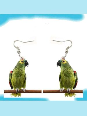 New Bird on Perch Acrylic Earrings Aretes DOUBLE SIDED! for Sale in Modesto, CA