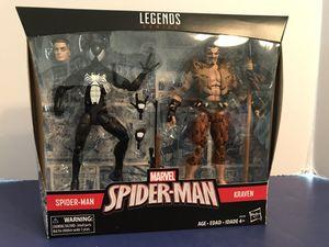 Marvel Legends Target Exclusive Black Symbiote Spider-Man and Kraven Action Figure Pack for Sale in Egg Harbor Township, NJ