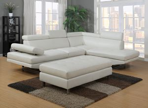 (JUST $54 DOWN) Brand New White Modern Sectional (Financing and Delivery available) for Sale in Carrollton, TX