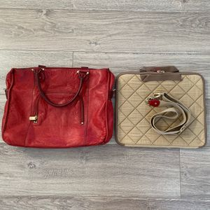 Excellent LC Liz Claiborne Red Leather Laptop/Work/Messenger Bag for Sale in Los Angeles, CA