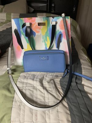 Kate Spade tote style purse with matching wallet for Sale in Mt. Juliet, TN