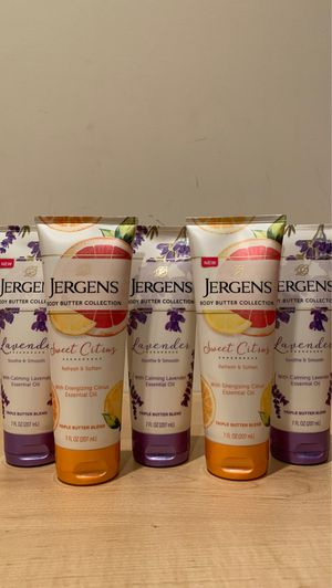 Jergens body butter 7 oz: sweet citrus or lavender for Sale in Alexandria, VA