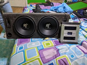 12 in Hifonics sub woofers and Jensen amp for Sale in Saint Marys, OH