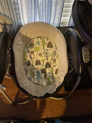 Baby Swing, Car seat and Luvs Size 1 diapers for Sale in Brandon, MS