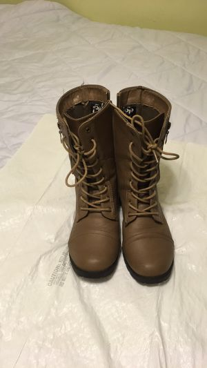 JustFab combat boots for Sale in Bartlesville, OK