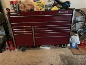 "54"" 11 drawer Snap on tool box less then a year old TOOLS NOT INCLUDED for Sale in Alexandria, VA"
