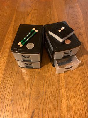 2 Mini Drawer Plastic Storage Organizer for Sale in Los Angeles, CA