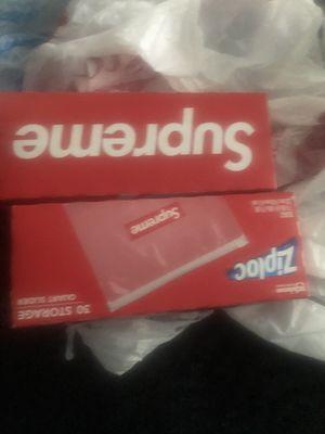 Supreme zip locks $40 a box for Sale in West Orange, NJ