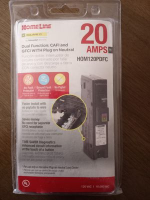 Home line 20 amp CAFI and GFI combo breaker for Sale in Chandler, AZ