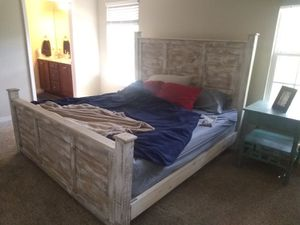 King sized hand crafted bed frame for Sale in Niceville, FL