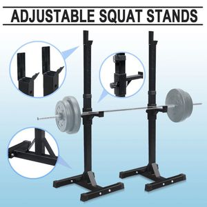 Adjustable Barbell Rack Stand Squat Bench Press Home GYM Weight Liftting Fitness Exercise for Sale in Corona, CA