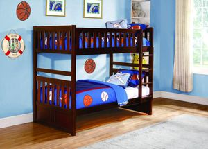 Rowe 2013 Dark Cherry Twin over Twin Bunk Bed for Sale in Houston, TX