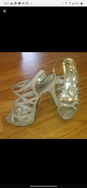 Silver strappy heels for Sale in Columbus, OH