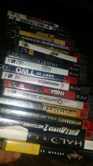 Lot of 18 ps3 games and 2 Xbox 360 games for Sale in Ashburn, VA