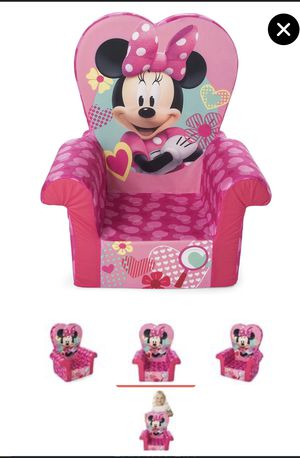Comfy Foam Toddler Kids High Back Chair, Pink Minnie Mouse for Sale in Kernersville, NC