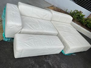LEATHER Sofa with ottoman for Sale in SUNNY ISL BCH, FL