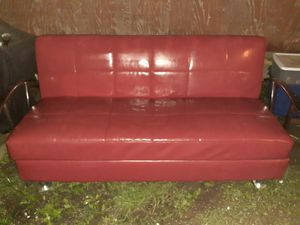 Leather futon for Sale in Swansea, IL