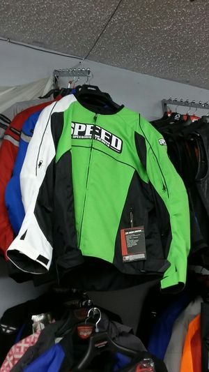 Kawasaki green motorcycle racing jacket size large for Sale in Los Angeles, CA