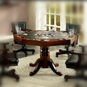 Traditional Cherry Poker Table for Sale in Ontario, CA