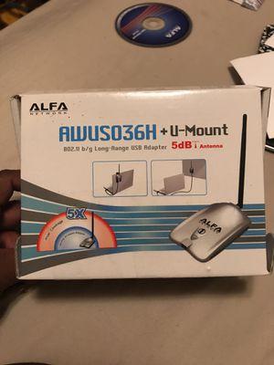 Alfa AWUSO36NH High Gain USB Wireless G / N Long-Rang WiFi Network Adapter for Sale for sale  Newark, NJ
