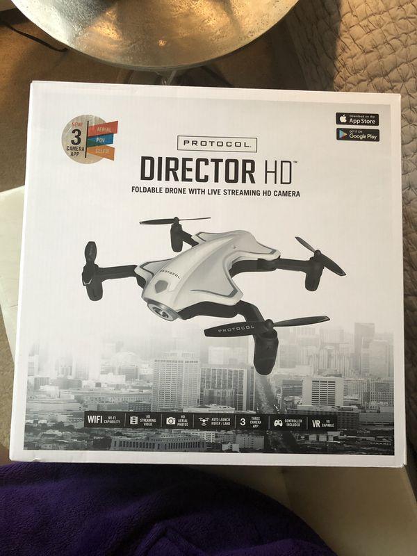 Brand New Protocol Director HD foldable Drone