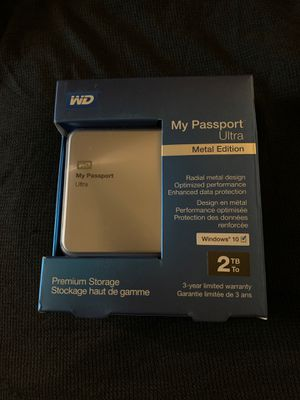 WD My Passport Ultra 2TB External Hard Drive for Sale in San Angelo, TX