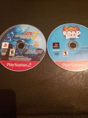 PS2   THE SIMPSONS ROAD RAGE, ATV OFFROAD FURY 3 for Sale in Boiling Springs, SC
