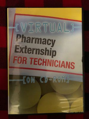 Virtual Pharmacy Externship for technicians - CD-Rom for Sale in West Covina, CA