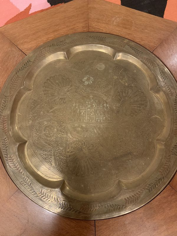 Antique Round Table With Compartment Inside!