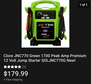 12v Jump Starter JNC779 Green for Sale in Carlsbad, CA
