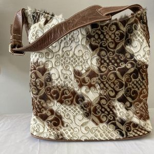 Boho Cowhide Patchwork Embroidered Shoulder Bag for Sale in Anaheim, CA