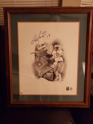 1995 Framed Dan Marino Lithograph for Sale in Potter, KS