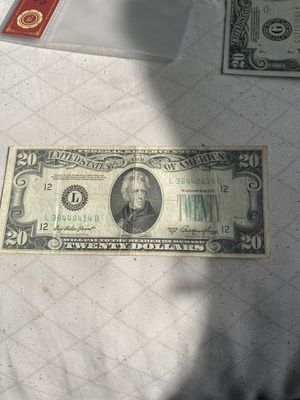 1950 A 20 DOLAR BILL FEDERAL RESERVE NOTE LEGAL TENDER for Sale in Anaheim, CA