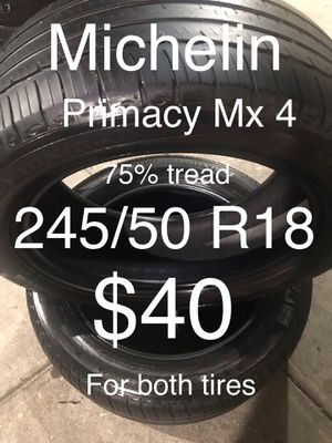 2 Michelin tires 245/50 R18 for Sale in San Leandro, CA