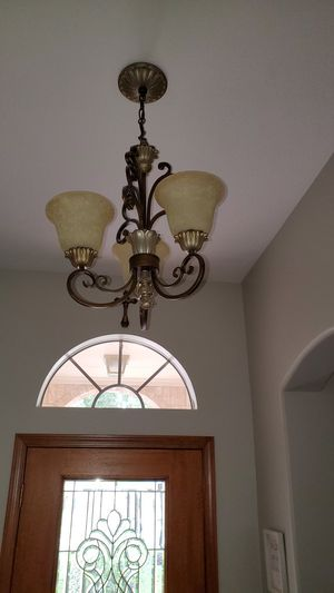 Small entry way chandelier for Sale in Houston, TX