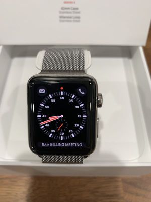 Apple Watch Cellular/GPS Stainless Steel Milanese Loop 42mm for Sale in Scottsdale, AZ