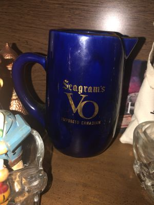 Vintage Seagrams VO Imported Canadian liquor pitcher for Sale in HOFFMAN EST, IL