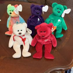 5 Beanie Baby Bears for Sale in Livermore,  CA