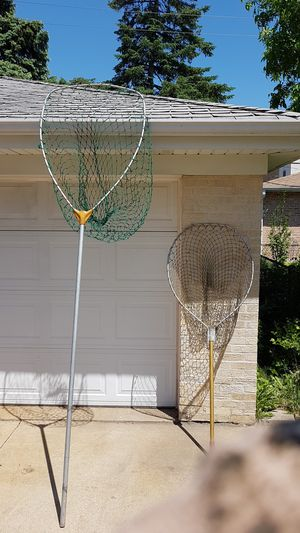 2 fishing nets one big as hell the other medium for Sale in Niles, IL