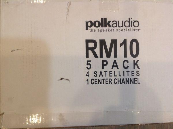 NEW - Polk Audio RM10 satellite speakers- 5 channel