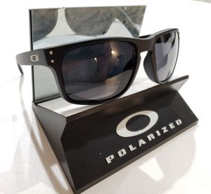 Oakley Holbrook Sunglasses Matte Black / Gray Polarized 9102-02 USA 55-18 for Sale in Norwalk, CA