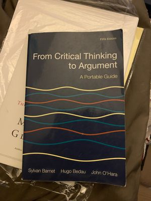 From Critical Thinking to Argument for Sale in Bloomington, CA