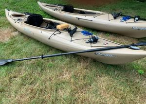 1 left! Old Town Dirigo 120 Angler Kayak with paddle and anchor for Sale in West Warwick, RI