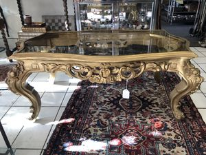 Italian hand-carved Antique coffee table for Sale in Los Angeles, CA