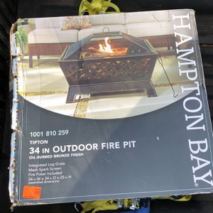 "Hampton Bay 34"" Outdoor Fire Pit for Sale in Central, SC"