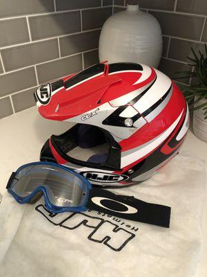 HJC Dirt Bike Helmet and Goggles for Sale in Yorba Linda, CA