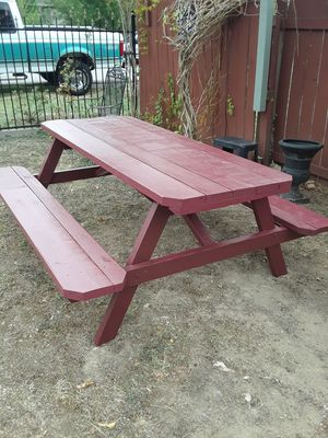 "New Handcrafted picnic table adult size 6feet long 29 "" H $120 or bo North Austin . for Sale in Austin, TX"