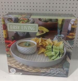 Easy Living Serving Set 2 Pcs Juego para Servir Bandeja for Sale in Miami, FL