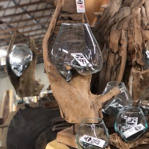 New & In Stock! Melted Glass Over Teak Root Bowls/Vases! Great For Beta Fish! $24-$99! for Sale in Vancouver, WA